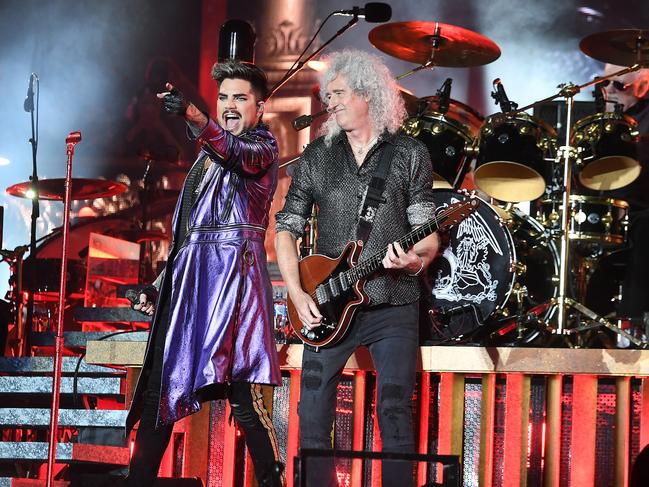 Queen with Adam Lambert and Brian May perform at ANZ Stadium this weekend. Picture: AAP