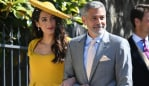 George & Amal Clooney at the royal wedding. Photo: James Whatling/MEGA