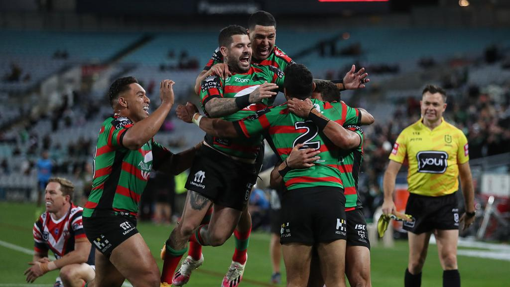 Alex Johnston has jumped to the top of the NRL tryscoring tally with 20 for the season.