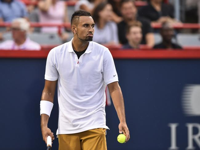 Fans weren't happy with Kyrgios after his latest outburst.