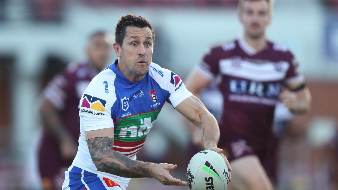 Mitchell Pearce will remain with the Knights. Picture: Brett Costello