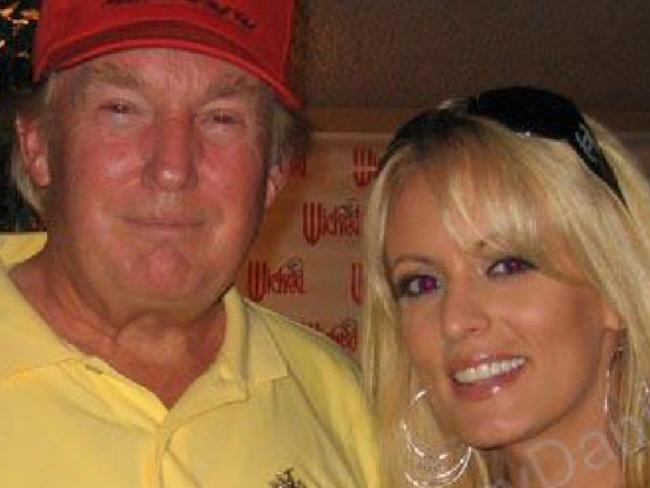 Donald Trump with Stormy Daniels, real name Stephanie Clifford, in 2006. Picture: MySpace