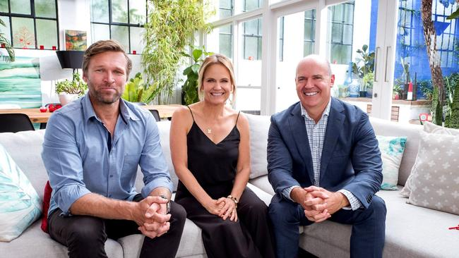 Rich Harvey (right) with fellow Buying Blind experts Marshal Keen and Shaynna Blaze.