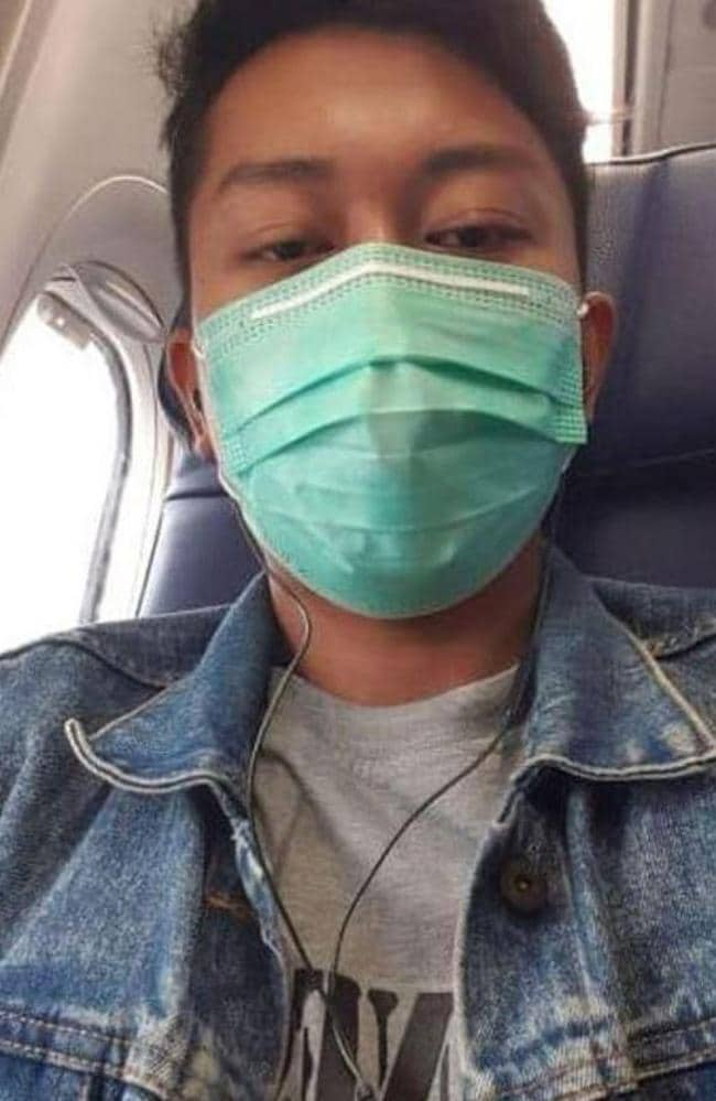 Deryl Fida Febrianto sent a photo to his wife minutes before the crash. Picture: Facebool