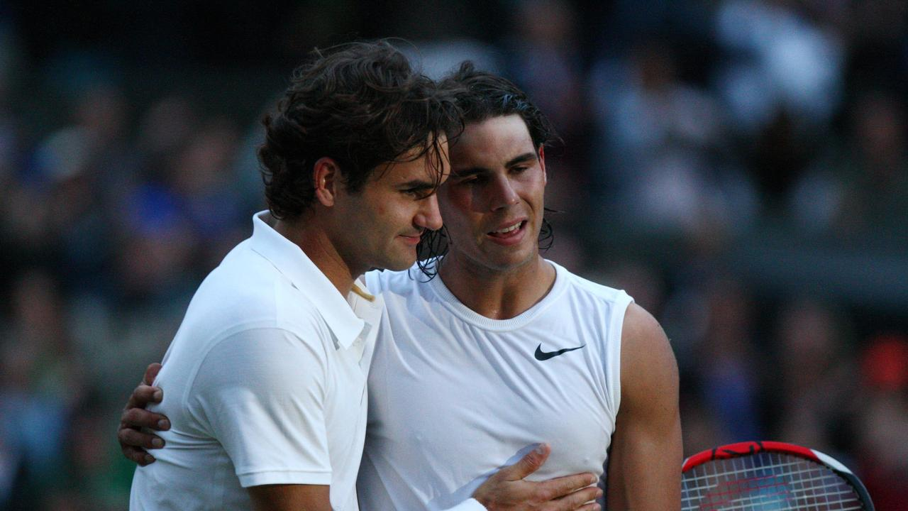 Nadal is congratulated by Roger Federer after the five-set epic.
