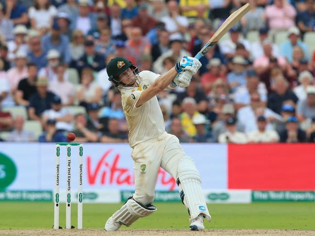 Australia's Steve Smith took a mammoth 144 runs on Day One of the Ashes series. Picture: Lindsey Parnaby