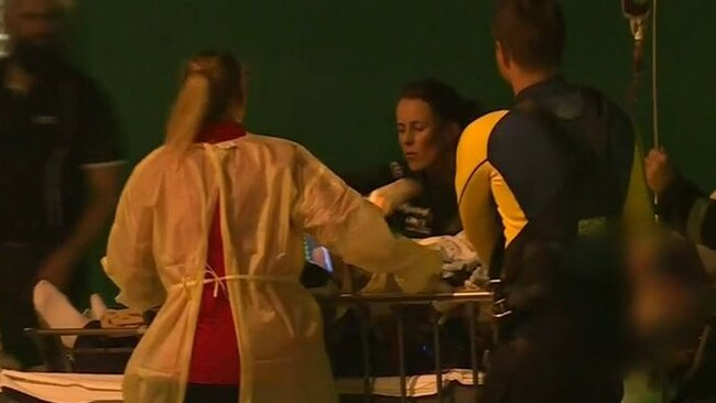 The 33-year-old man was attacked near a yacht. Picture: Channel 9