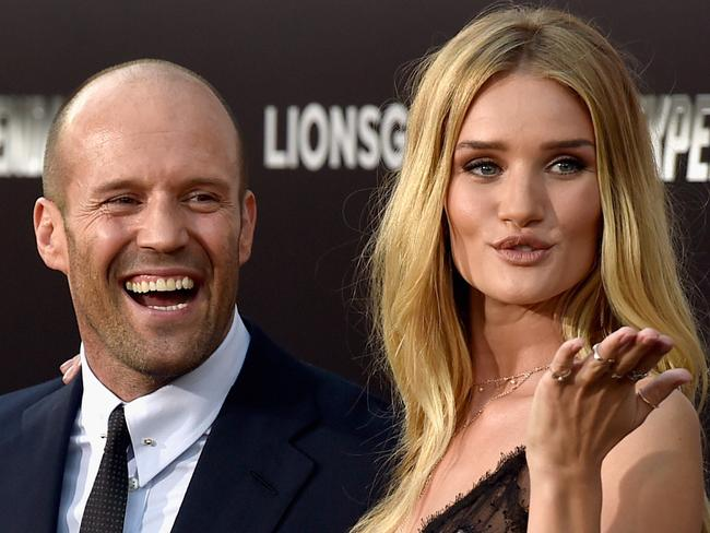 Rosie Huntington-Whiteley and Jason Statham. Picture: Getty