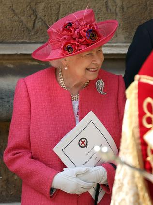 Queen Elizabeth looked ravishing in pink. Picture: Frank Augstein/POOL/AFP