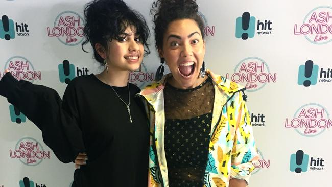 The Hit Network's Ash London with Alessia Cara.