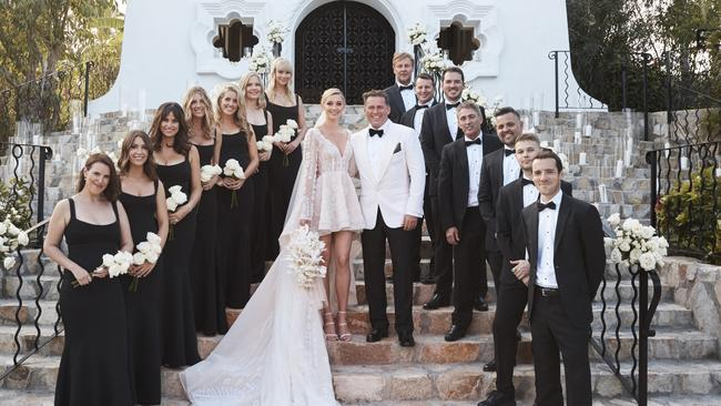 Karl Stefanovic and Jasmine Yarbrough's lavish wedding. Picture: Supplied