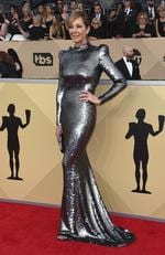 Allison Janney arrives at the 24th annual Screen Actors Guild Awards at the Shrine Auditorium Expo Hall on Sunday, Jan. 21, 2018, in Los Angeles. Picture:Jordan Strauss/Invision/AP