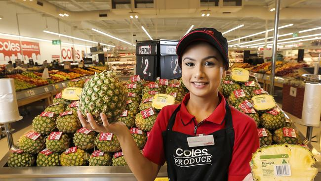 Fruit not in packaging can be cheaper. Pic Mark Cranitch.