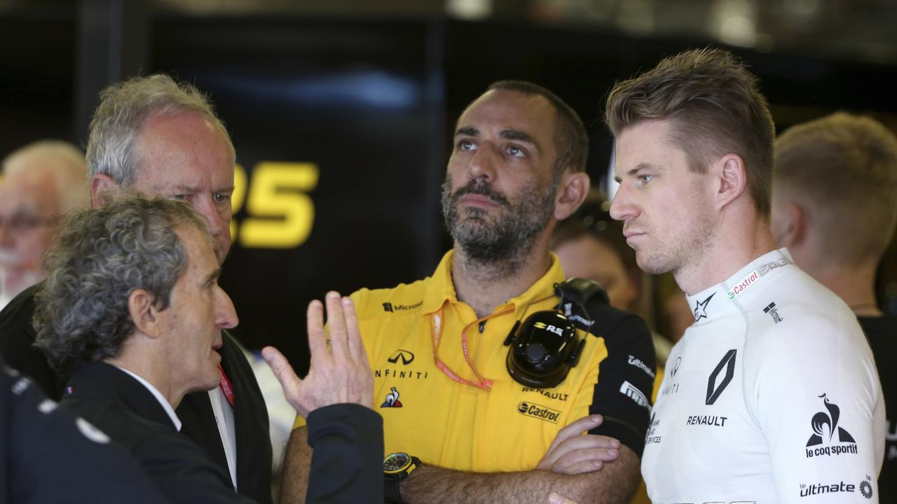 Nico Hulkenberg landed the first blow in his battle against Daniel Ricciardo.