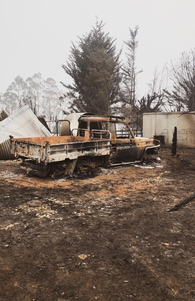 They prepared their Bete Belong North property with water pumps, generators, endless sprinkles and spent hours watering every corner and inch of their land, but it wasn't enough. Picture: Supplied