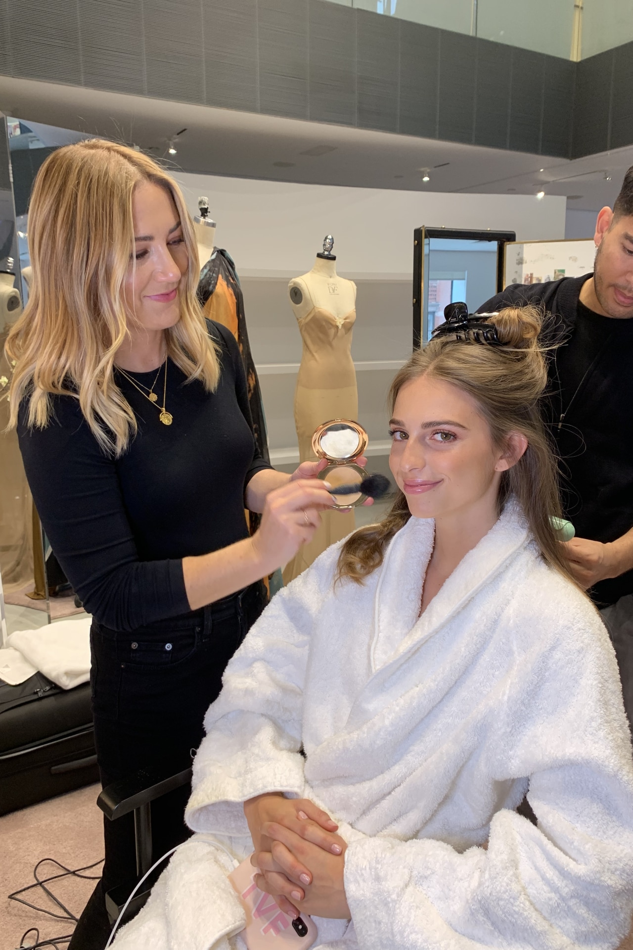 Talita von Fürstenberg gets ready for the 2019 Met Gala. Image credit: supplied
