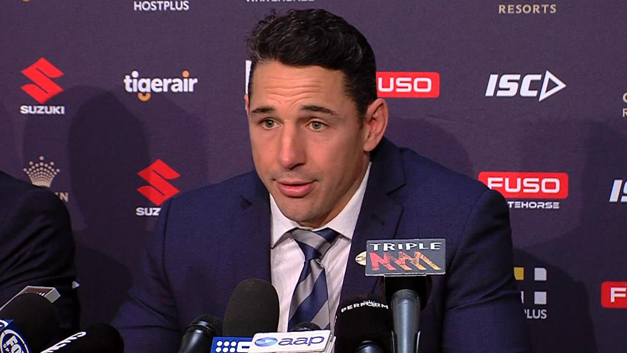 Billy Slater announces his retirement from rugby league.