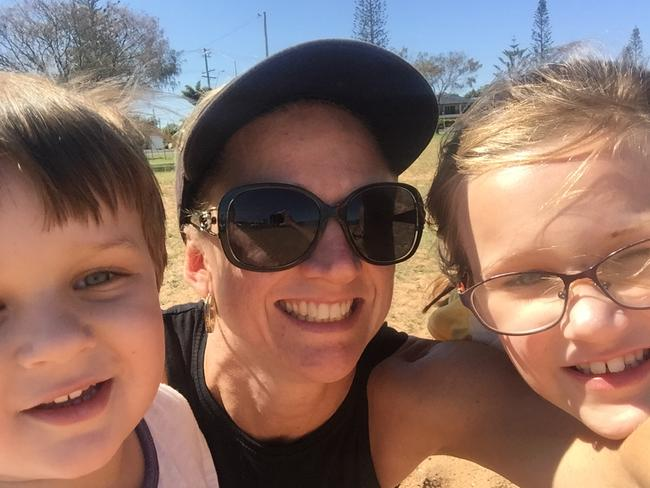 The mother of two says her children gave her the courage to leave.