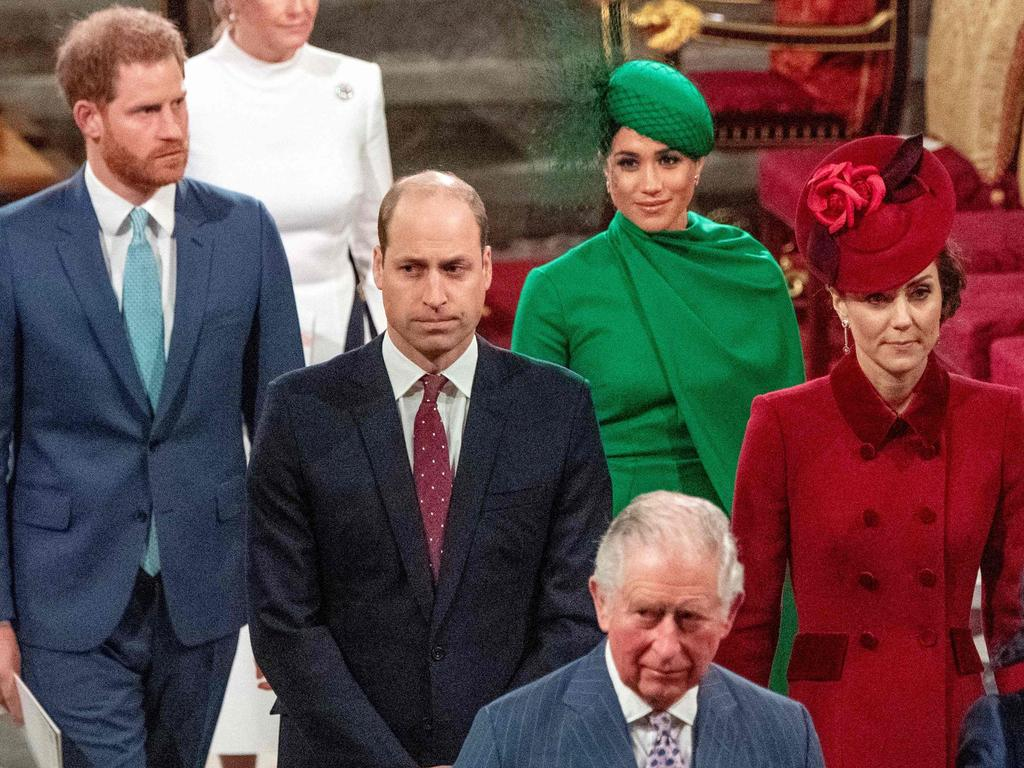 The royal hierarchy is part of the reason why Harry can't get away with what William does. Picture: Phil Harris/AFP