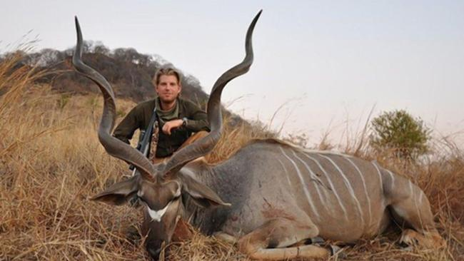 Eric Trump on a hunt in Africa. Picture: Supplied.