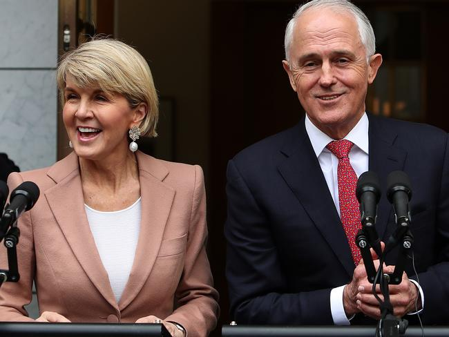Julie Bishop says she'll remain loyal — but polls suggest she could be the Liberals' best hope for an election win. Picture Kym Smith