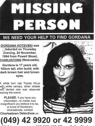 A missing person poster for Gordana Kotevski. Picture: Supplied
