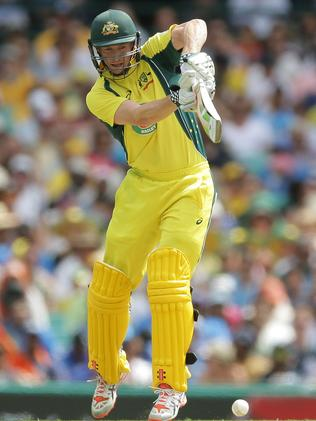 George Bailey in action in an ODI match against India at the SCG on January 23.