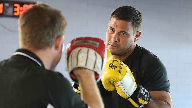 Justin Hodges ahead of his second pro fight. Picture: Annette Dew