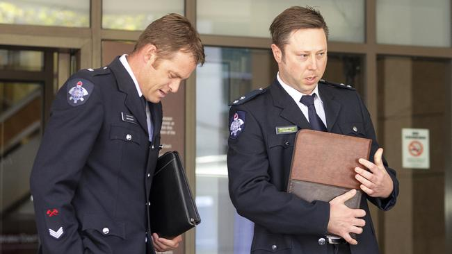 The firefighters gave evidence at the hearing. Picture: AAP/Daniel Pockett