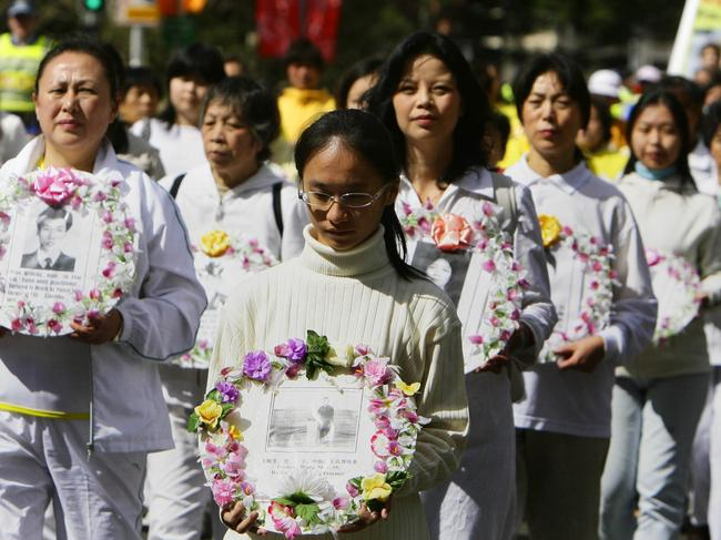 About 1300 people attended a Falun Gong rally in Sydney during APEC 2007. Picture: Supplied
