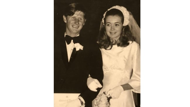 Roxlyn and John Bowie on their wedding day. Picture: Supplied