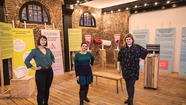 The team behind the museum includes founder Florence Schechter (left), press officer Zoe Williams (centre) and curator Sarah Creed (right). Picture: Angus Young