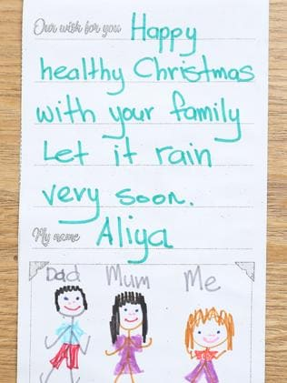A card sent in by Aliya. Picture: Tim Hunter.