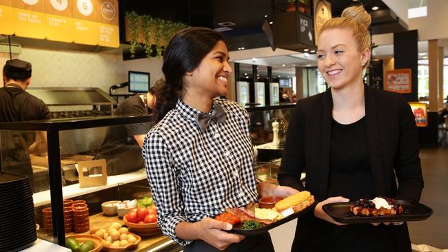 Senali Rupasinghe and Kate Murray at McDonald's Thornleigh.