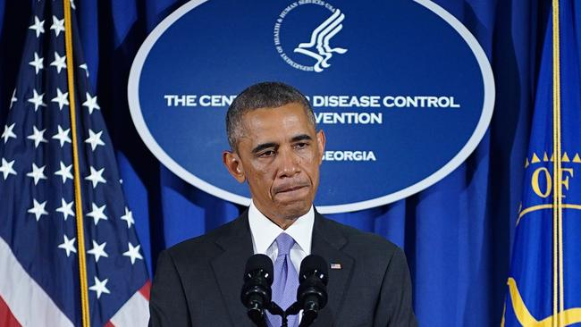 Action ... US President Barack Obama has committed 3000 troops to combat Ebola. Picture: AFP