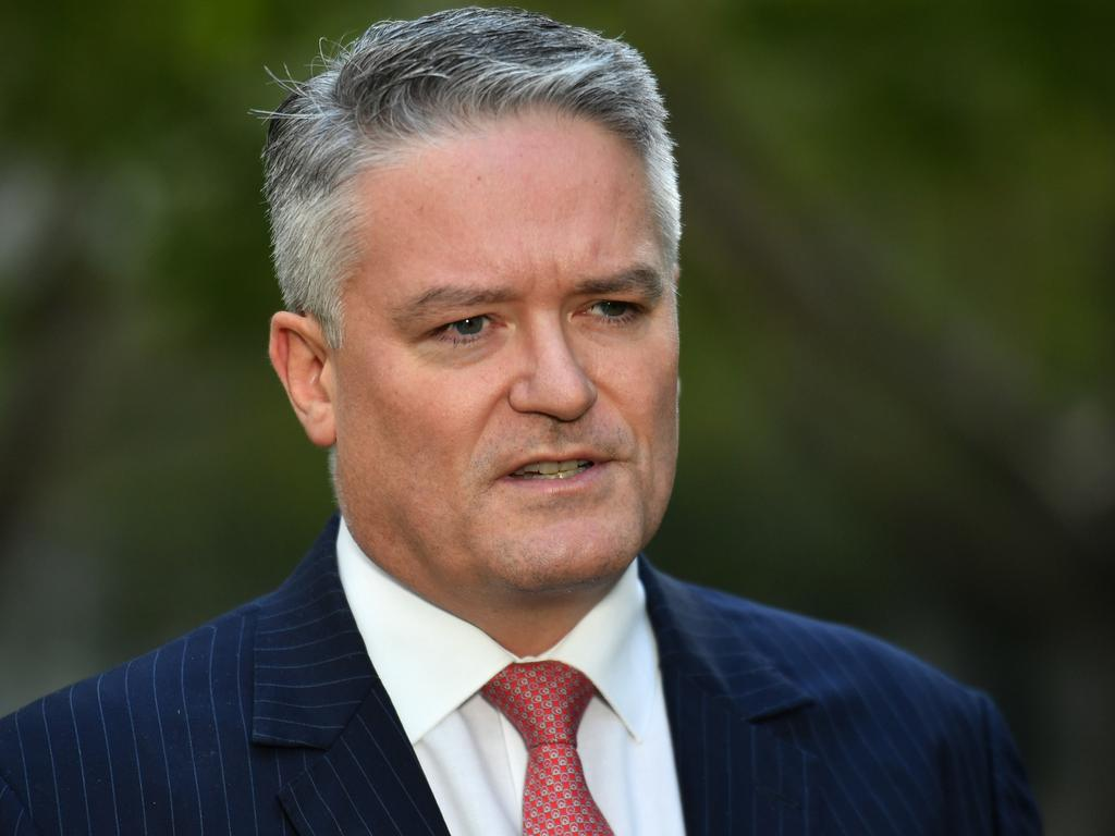 "Minister for Finance Mathias Cormann. Picture: AAP <br />"" width=""1024″ height=""768″ course=""tge-imagecaption_img""/><meta itemprop="