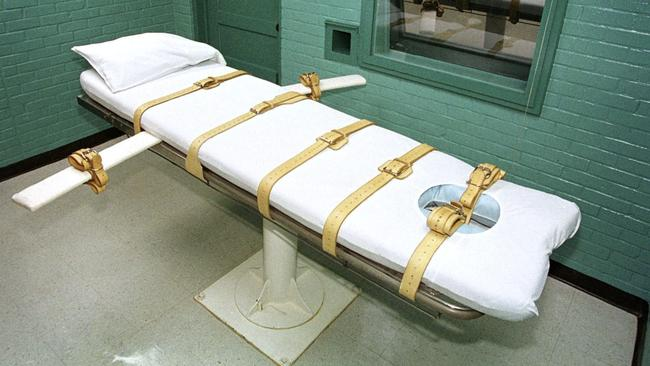 The death chamber inside the Huntsville Unit in Huntsville, Texas in 2000, where prisoners are executed by lethal injection. Picture: EPA/Paul Buck