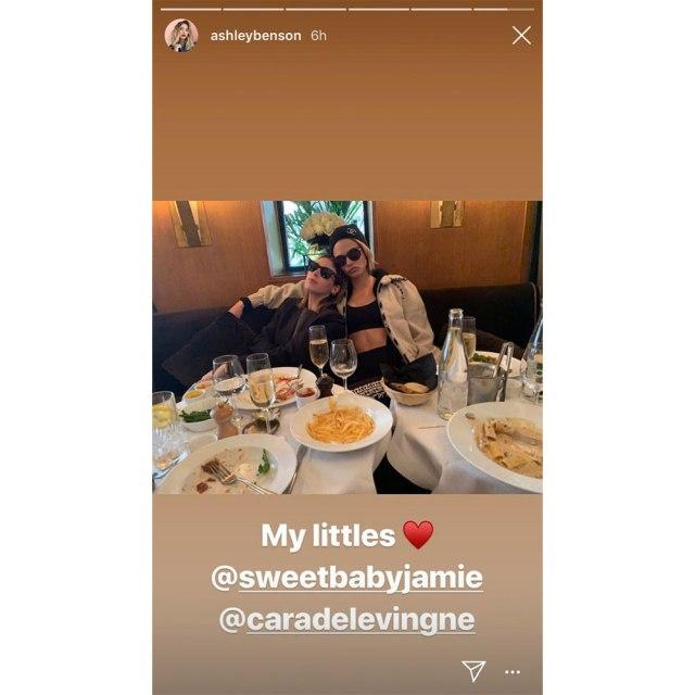 Jamie Mizrahi and Cara Delevingne snapped by Ashley Benson. Image credit: Instagram/ashleybenson