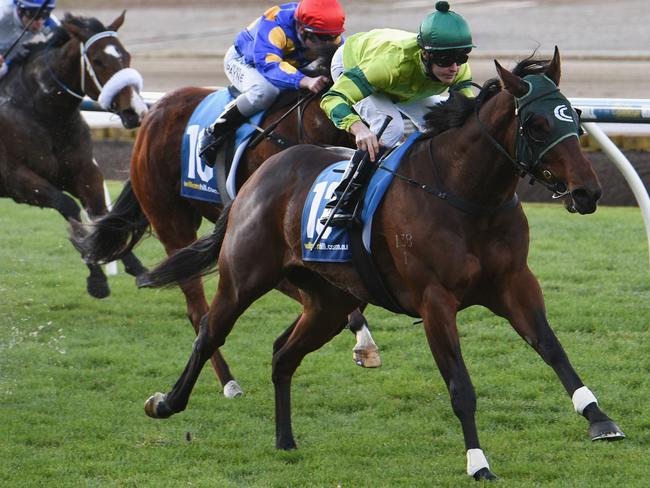 Standout apprentice Patrick Moloney wins at Moonee Valley last month. Picture: Getty Images