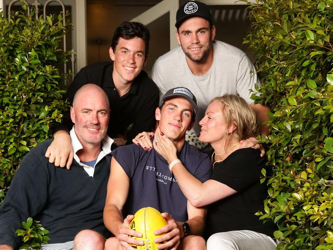 The McCartin family – parents Matt and Jo McCartin and brothers Charles, Paddy and Tom. Picture: Peter Ristevski