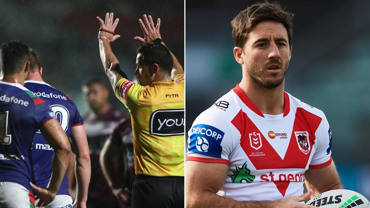 Jack Hetherington was sent to the sin bin, while Ben Hunt was involved in a mid-game halves switch.