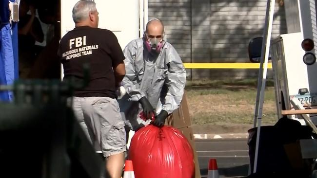 The scene was so distressing some agents refused to go back inside. Picture: ABC News 10