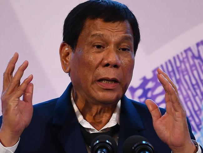 Philippine President Rodrigo Duterte. Picture: AFP