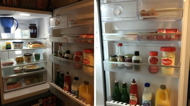 Mel bared her soul and opened her fridge. Image: Supplied