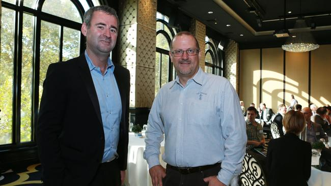 iiNet founder Michael Malone and NBN CO board member Simon Hackett. Pic — Britta Campion