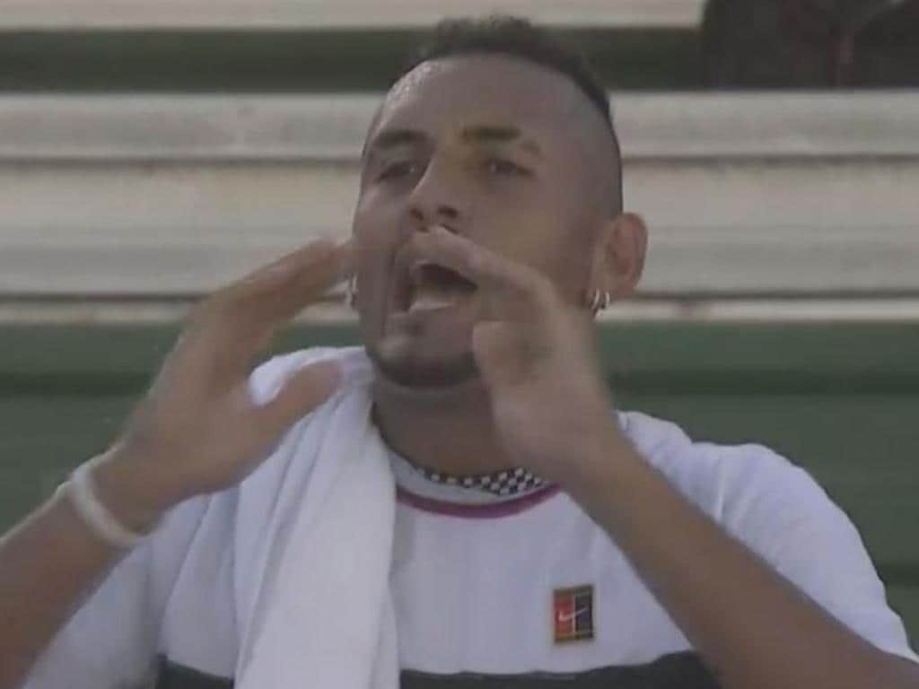 Nick Kyrgios loses at the Delray Beach Open.