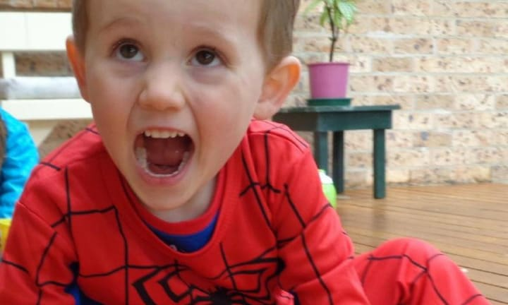 William Tyrrell in his spiderman suit. Picture NSW Police