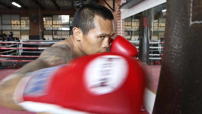 Fighter ... Czar Amonsot is a boxer who was trafficked to Australia from the Philippines and has been a fighter in every sense of the word. Picture: David Caird