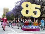 85 Years Let's Celebrate float. Photo Naomi Jellicoe