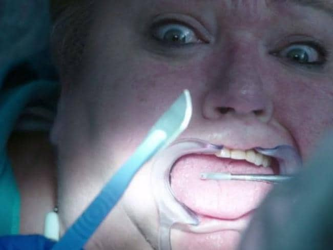 Just in case going to the dentist wasn't scary enough, Wentworth just made it more horrifying. Picture: Foxtel